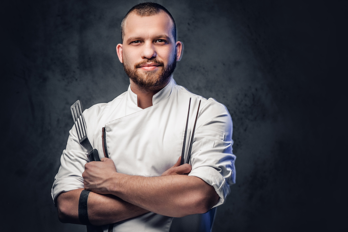Chef cook posing
